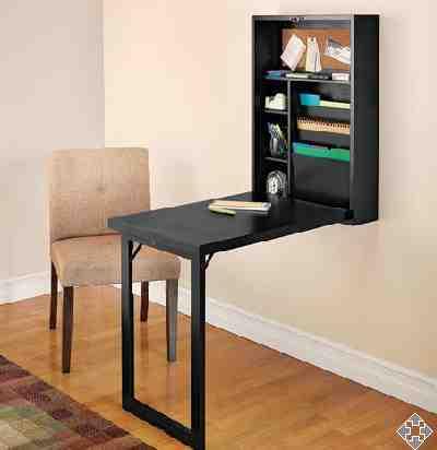 Un pr ctico dise o de un mueble de escritorio para - Escritorio para espacios pequenos ...